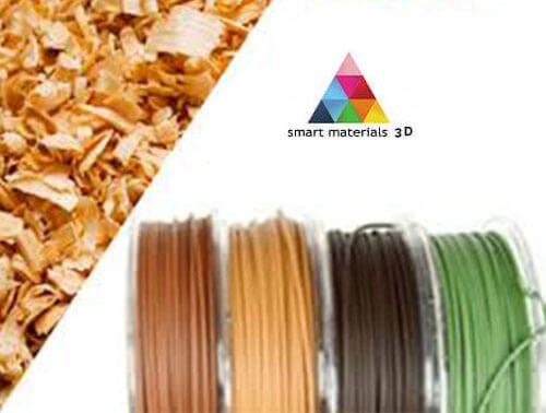 logo filamento smart materials textura madera