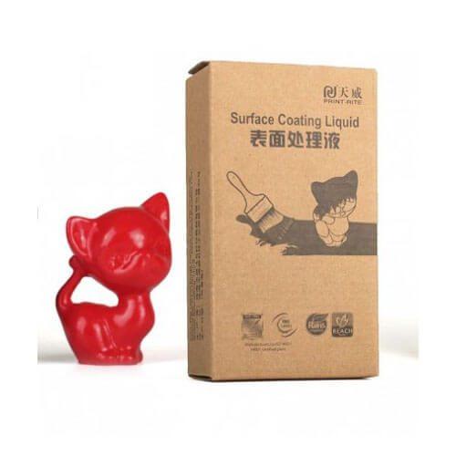 recubrimiento colido rojo 60ml para artículos impresos en 3D