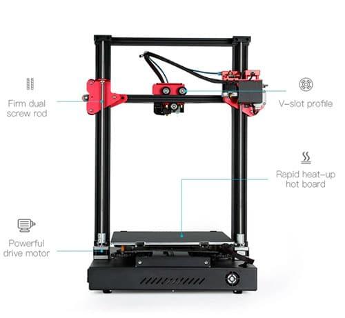 Nuevas funciones impresora 3D CR10S PRO V2